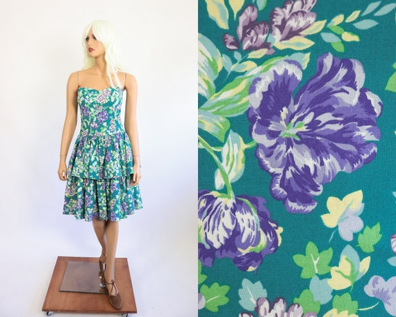 Laura Ashley Dress Strapless Sundress Sweetheart B
