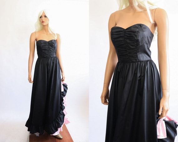 Iconic Princess Gown 70s Victorian 80s Party Dres… - image 3
