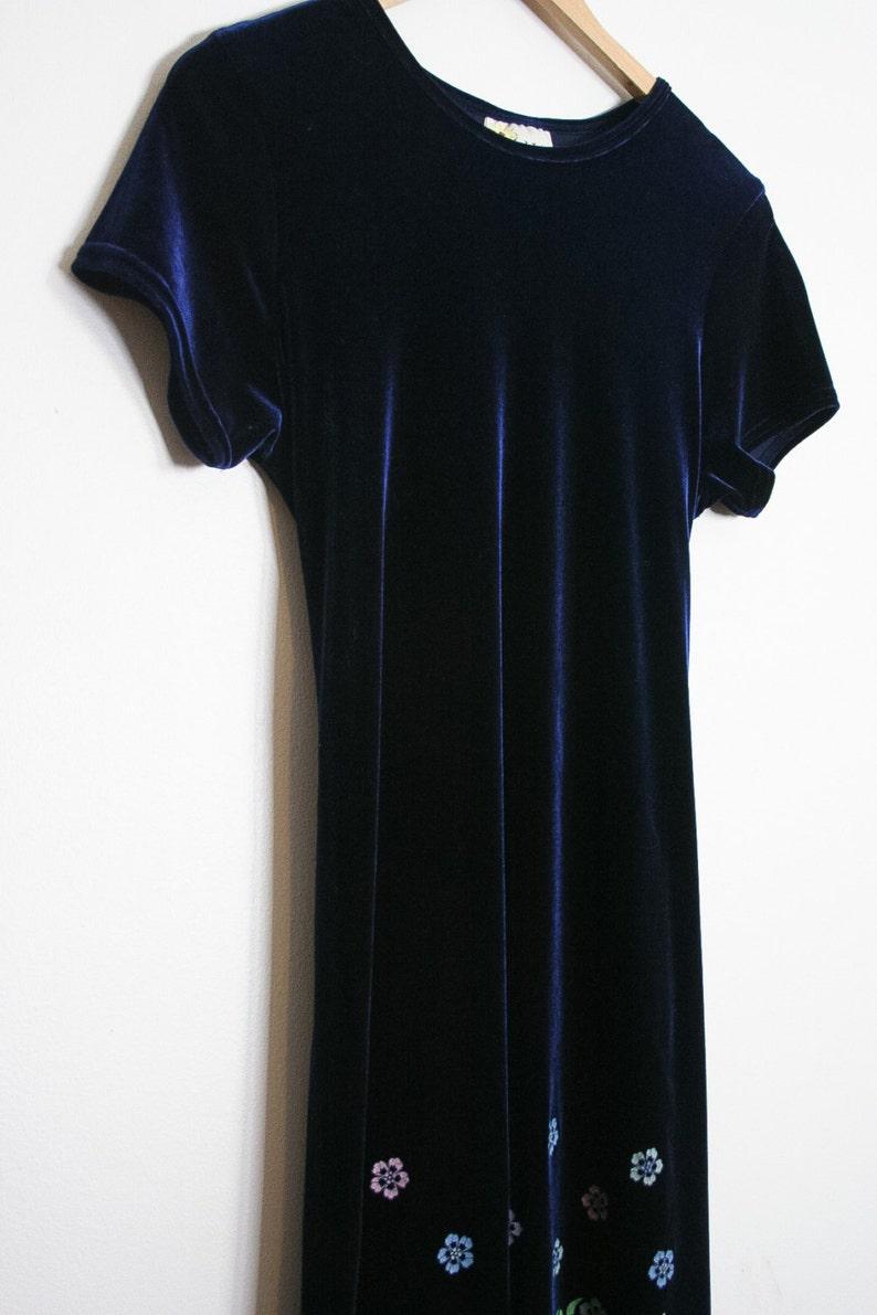 65f6ebfeb031c 90s Velour Kawaii Dress   Blue Velvet Babydoll Lolita Dress