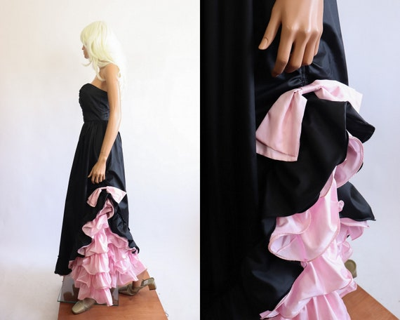 Iconic Princess Gown 70s Victorian 80s Party Dres… - image 5