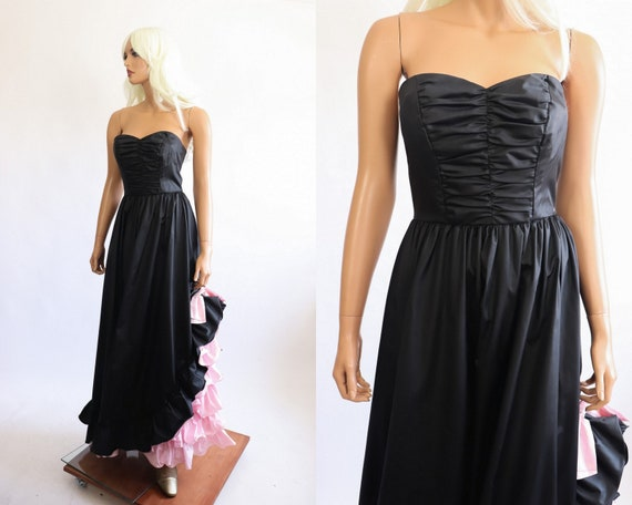Iconic Princess Gown 70s Victorian 80s Party Dres… - image 7