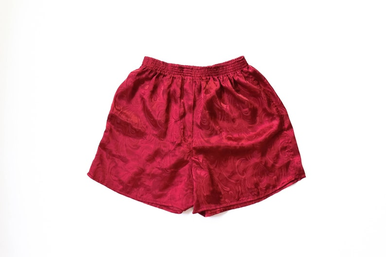 4057531b9b8b Sleep Shorts Tap Pants Womens Boxers Satin Jacquard Lingerie
