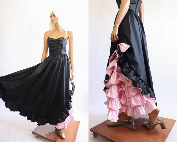 Iconic Princess Gown 70s Victorian 80s Party Dres… - image 1