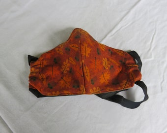 Autumn Leaves Adult Fitted Facemask with Filter Pocket