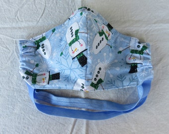Snowman Adult Fitted Face Mask with Filter Pocket