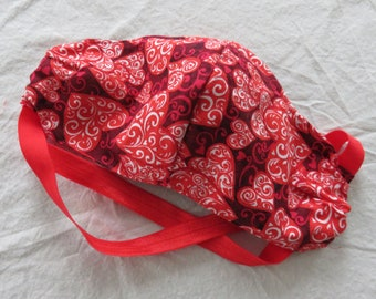 Valentine Fitted Adult Face Mask with Filter Pocket