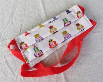Pleated Child Size Nutcracker Face Mask with Filter Pocket
