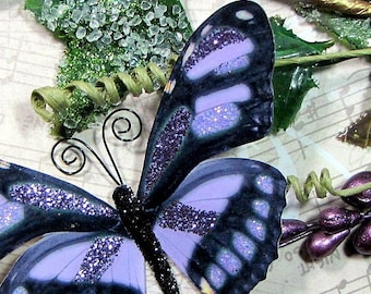 Butterfly Embellishments Lavender Wings