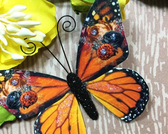 Butterfly Embellishments Floral Monarch