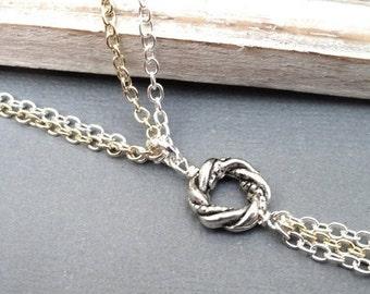 Algerian Love Knot Necklace, Love Knot Necklace