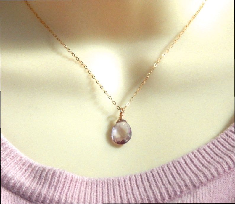 Ametrine Necklace,Gold Filled Layering Necklace,Natural Gemstone Necklace,Choose Your Finish