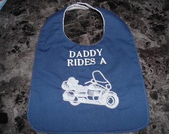 Daddy Rides A  motorcycle 12x8