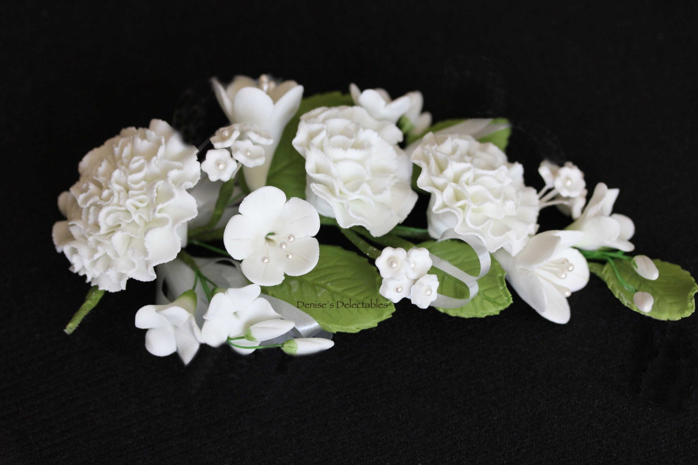 Carnation gum paste flower bouquet wedding cake decoration etsy zoom izmirmasajfo