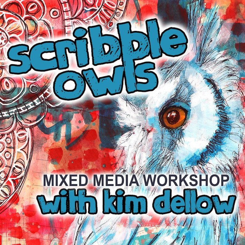 Mixed Media Art Online Workshop With Kim Dellow  Scribble image 0