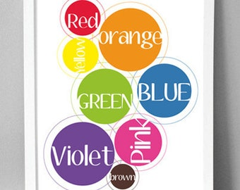 "Printable Wall Art - Color Circles - 8.5""x10"""