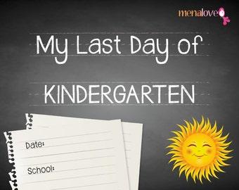 Last School Day - Kindergarten