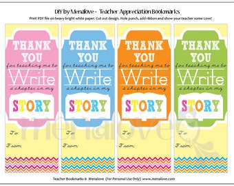 Teacher Appreciation - DIY Bookmarks