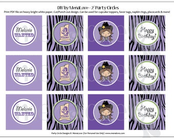 """DIY - 2"""" Cupcake Toppers - Cowgirl Diva"""
