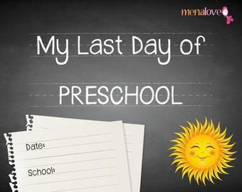 Last School Day - Preschool