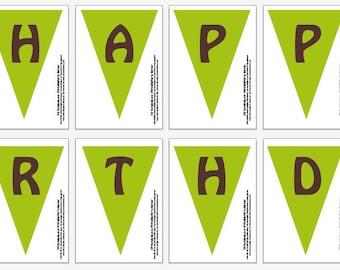 Gator Swamp -DIY - Happy Birthday Banner