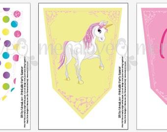Unicorn Birthday - DIY Happy Birthday Banner