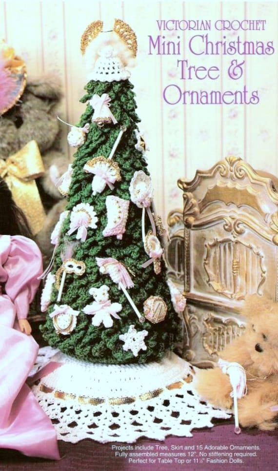 Mini Christmas Tree Skirt Pattern.Vintage Crochet Pattern Mini Christmas Tree Skirt And Decorations Fashion Doll Barbie Sindy Mini Ornaments Instant Download Pdf