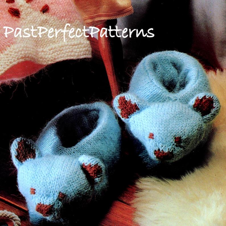 INSTANT DOWNLOAD PDF  Vintage Knitting Pattern  Teddy Bear Hot Water Bottle Cover Pyjama Case Slippers