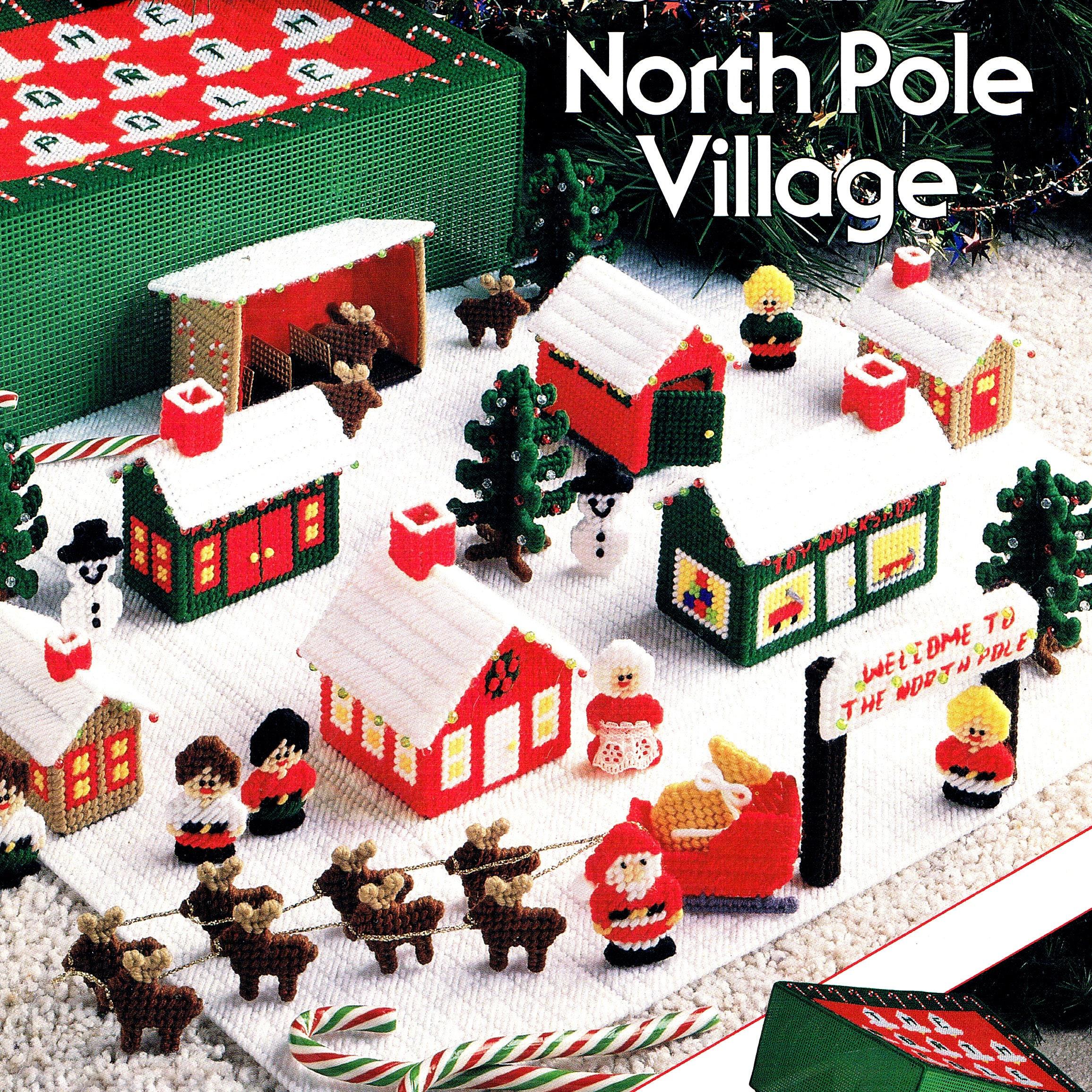 Plastic Canvas Pattern Santa\'s North Pole Village | Etsy