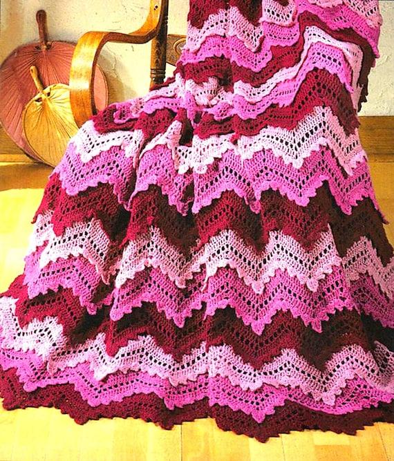 Vintage Crochet Pattern Lacy Victorian Rose Border Afghan PDF Instant Digital Download Heirloom Blanket Lap Throw 38x50 10 Ply