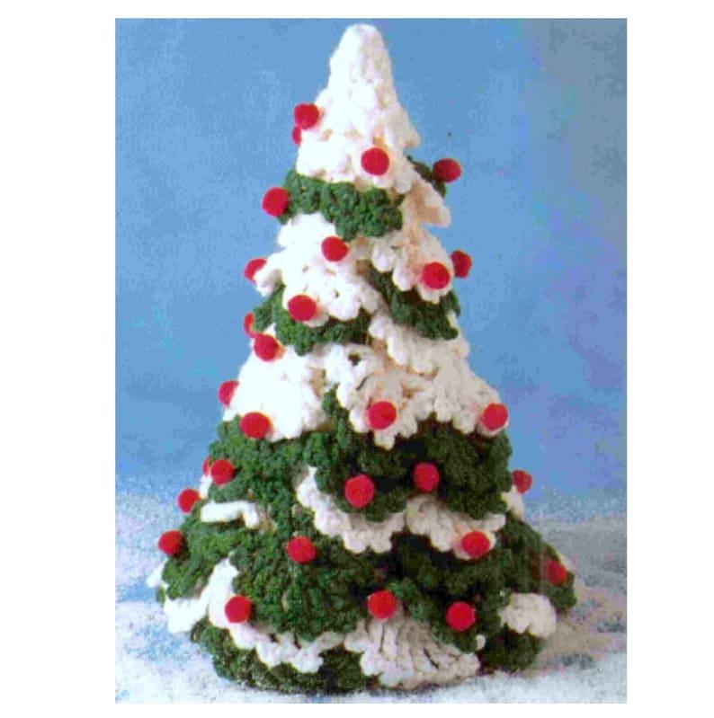 Vintage Crochet Pattern  Christmas Tree  Holiday Decorations image 0