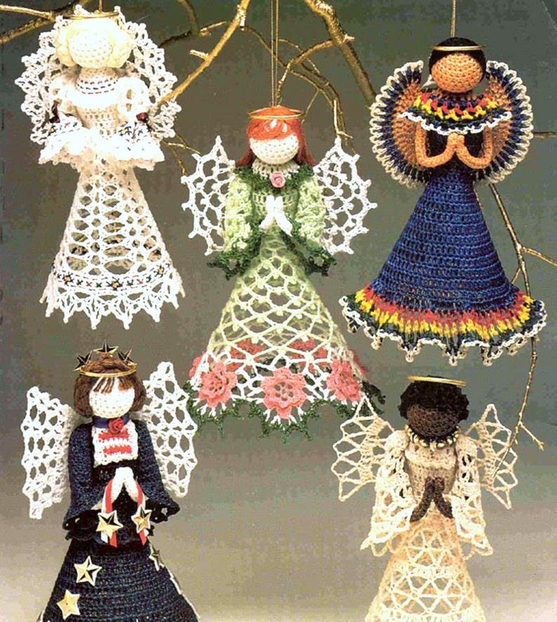 Instant Download Pdf Vintage Crochet Pattern Angels Eight Etsy