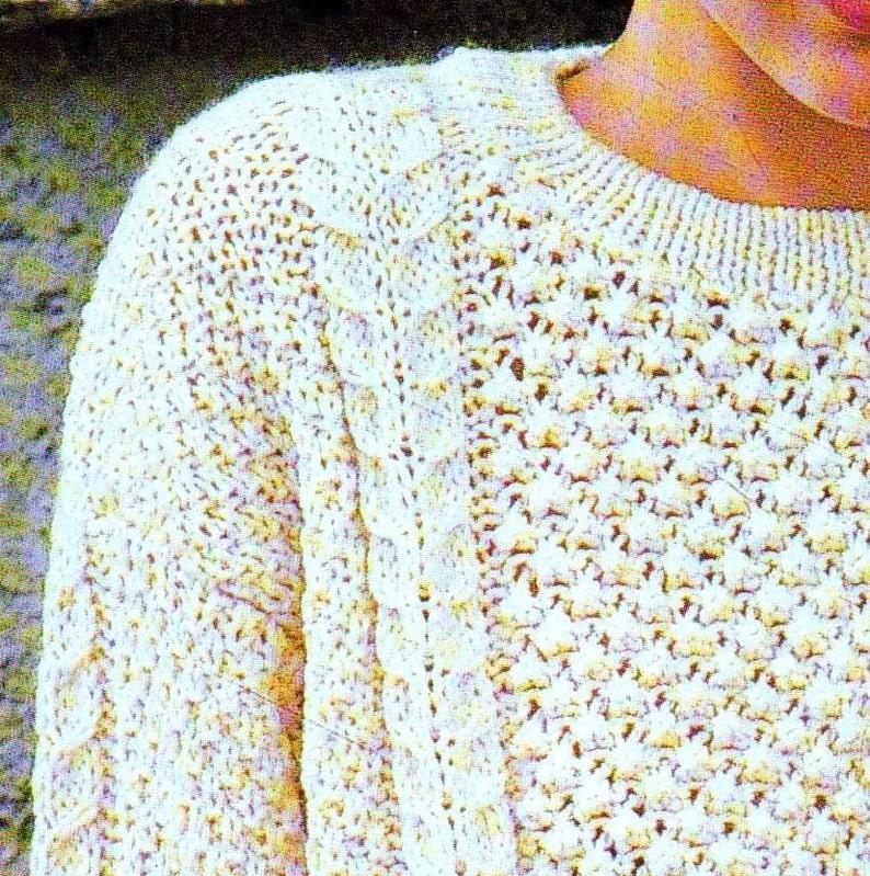 INSTANT DOWNLOAD PDF Vintage Knitting Pattern Aran Sweater ...