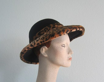 e4050750f Floppy leopard hat | Etsy