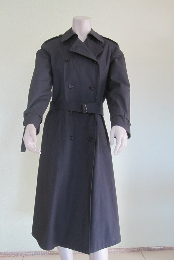 London Fog Navy Trench - Classic 80s Blue Trench … - image 2