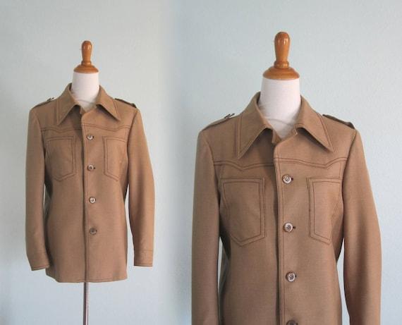 70s Wool Jacket - Vintage Wool Military Style Jack