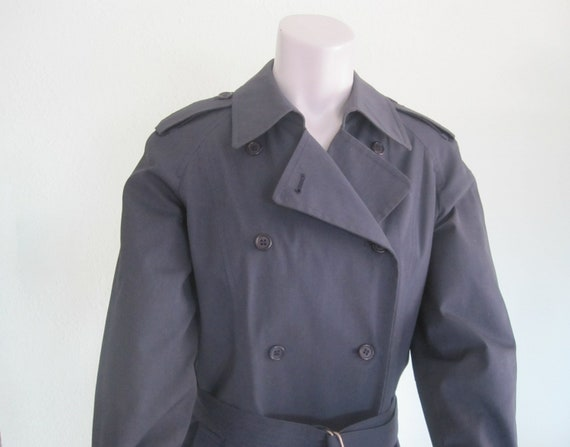 London Fog Navy Trench - Classic 80s Blue Trench … - image 4