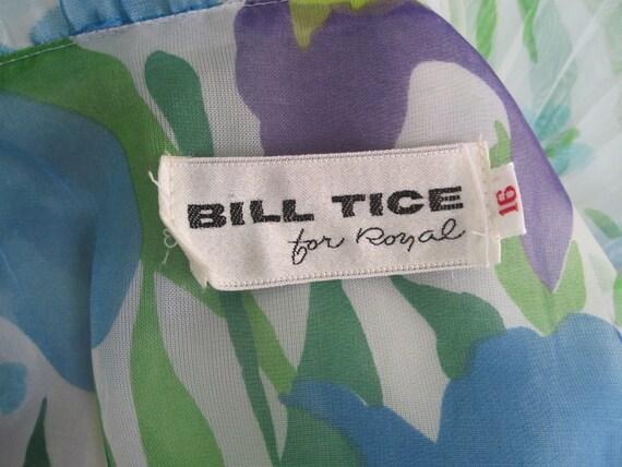 70s Bill Tice Dress - Vintage Ruffled Floral Host… - image 7