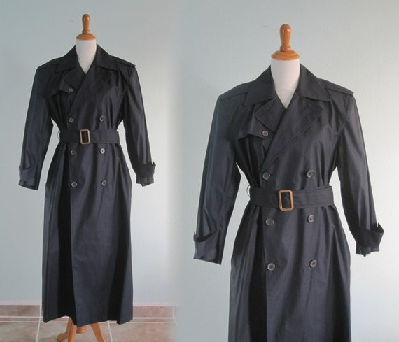 Ralph Lauren Trench - Classic 80s Navy Blue Trench