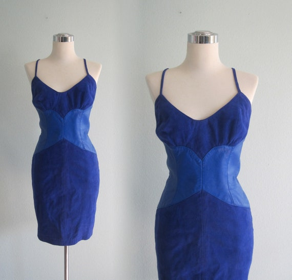 CLEARANCE Michael Hoban Dress Sexy 80s North Beach Leather Dress  8fc618986