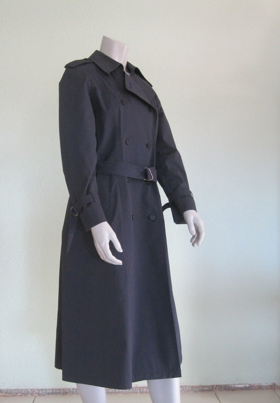 London Fog Navy Trench - Classic 80s Blue Trench … - image 5