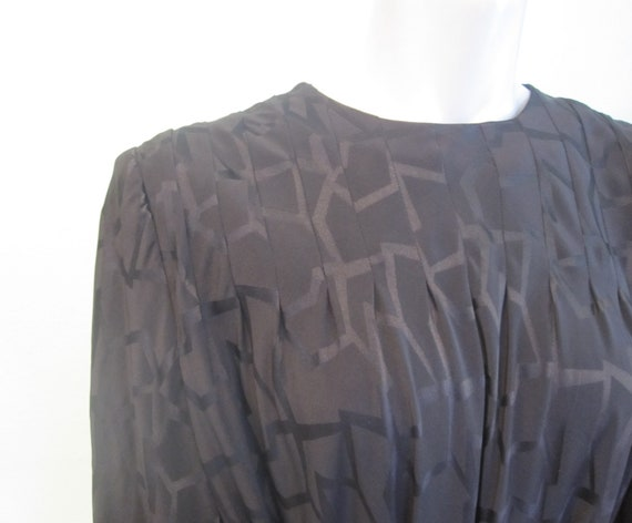 Pauline Trigere Dress - Gorgeous 80s Black Silk S… - image 5