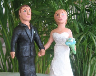 Custom Wedding Cake Topper, sculpture of the couple