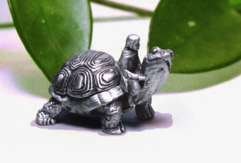 Tooth Fairy Box Pewter On A Whim'' Tortoise image 0