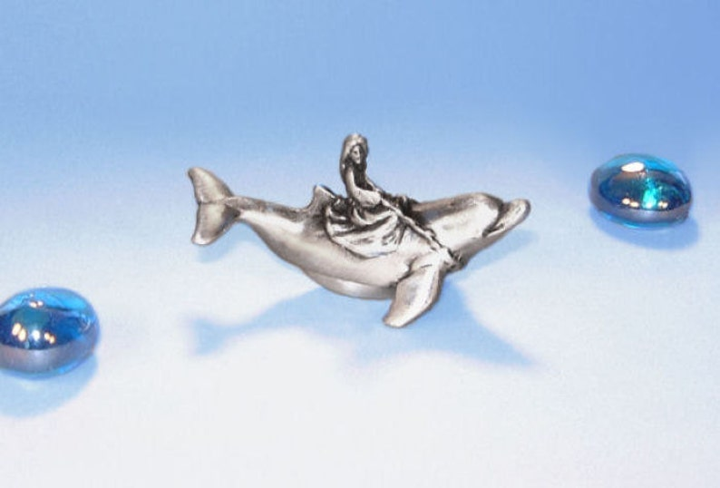 Tooth Fairy Box-Pewter On A Whim Dolphin  and image 0
