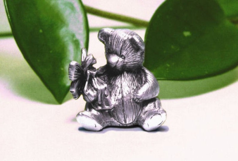 Pewter Teddy Bear Tooth Fairy Box image 0