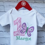 Personalized Butterfly Birthday Shirt - Personalized Butterfly and Number Shirt - You Choose your Fabric - by Pocketbrand