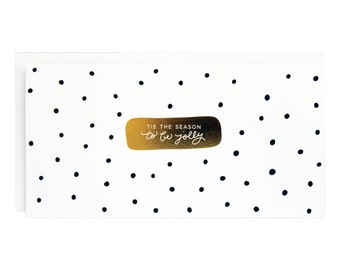 To Be Jolly Dots Gold Foil Card