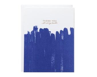 Thank You Brushstroke Gold Foil Card
