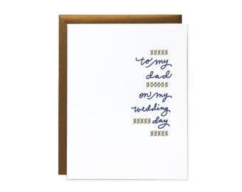 Dad Wedding Letterpress Card