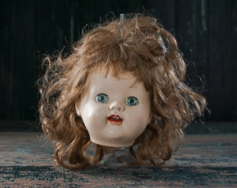 1950/'s Large Size 14 Inches Vintage Doll Head Topper and Pencil 1940/'s